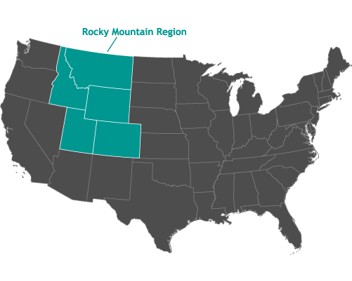 Map of AKI Gibb. Inc. Service Area